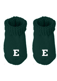 Eastern Michigan Eagles Baby Knit Bootie Boxed Set - Green