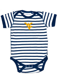 West Virginia Mountaineers Baby Skylar One Piece - Navy Blue