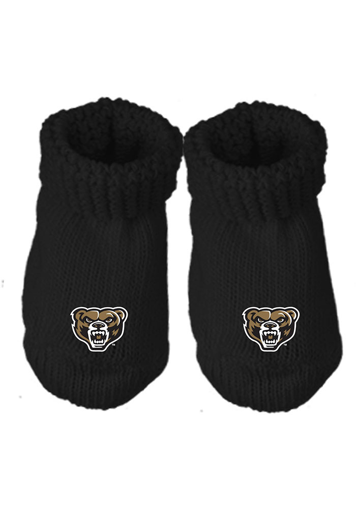 Oakland University Golden Grizzlies Knit Baby Bootie Boxed Set - Image 1
