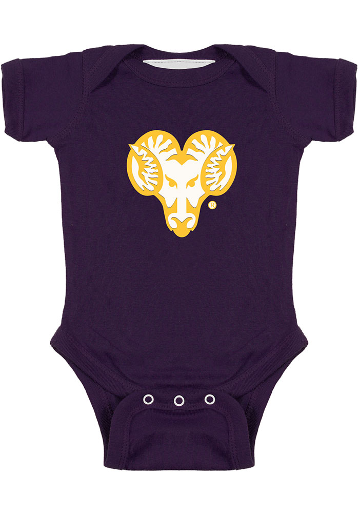 West Chester Golden Rams Baby Purple Bailey Short Sleeve One Piece - Image 1