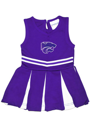 K-State Wildcats Toddler Girls Purple Team Logo Cheer