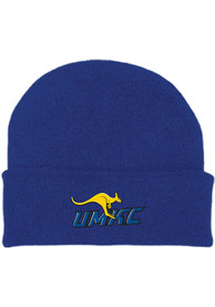 UMKC Roos Cuffed Newborn Knit Hat - Blue