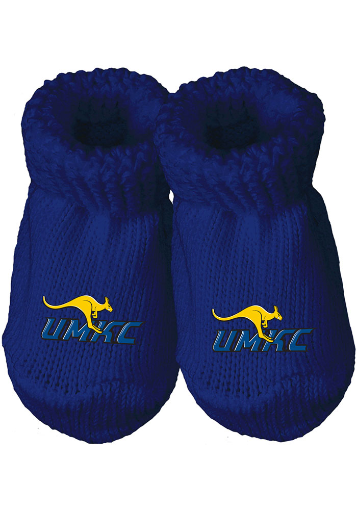 UMKC Roos Knit Baby Bootie Boxed Set - Image 1