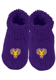 West Chester Golden Rams Baby Knit Bootie Boxed Set - Purple