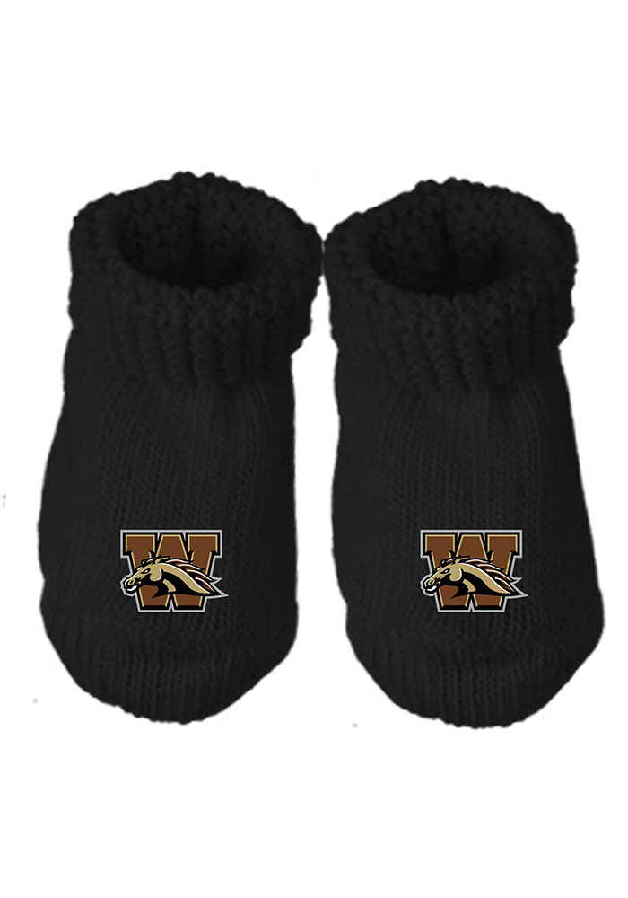 Western Michigan Broncos Knit Baby Bootie Boxed Set - Image 1
