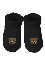 Western Michigan Broncos Baby Knit Bootie Boxed Set - Gold