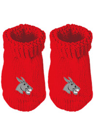 Central Missouri Mules Baby Knit Bootie Boxed Set - Red