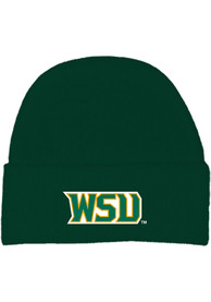 Wright State Raiders Cuffed Newborn Knit Hat - Green