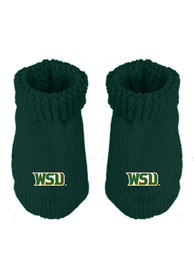 Wright State Raiders Baby Knit Bootie Boxed Set - Green
