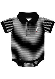 Cincinnati Bearcats Baby Striped One Piece Polo - Black