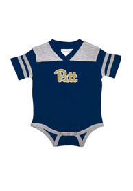 Pitt Panthers Baby Navy Blue Football One Piece