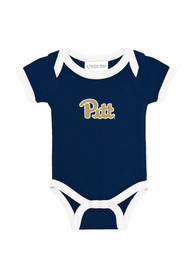 Pitt Panthers Baby Navy Blue Ringer One Piece