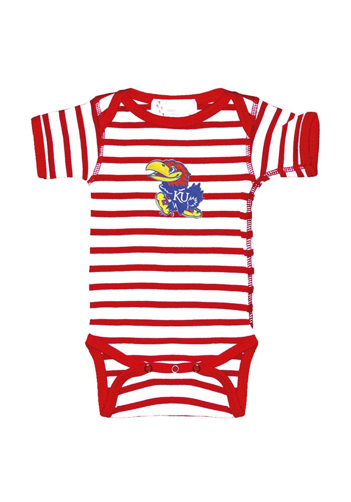 Kansas Jayhawks Baby Red Stripe One Piece