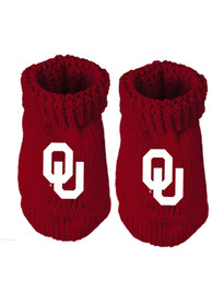 Oklahoma Sooners Baby Team Color Bootie Boxed Set - Crimson