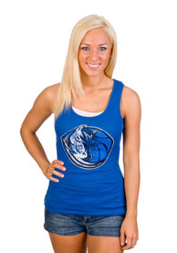 Dallas Mavericks Juniors Blue Logo Tank Top