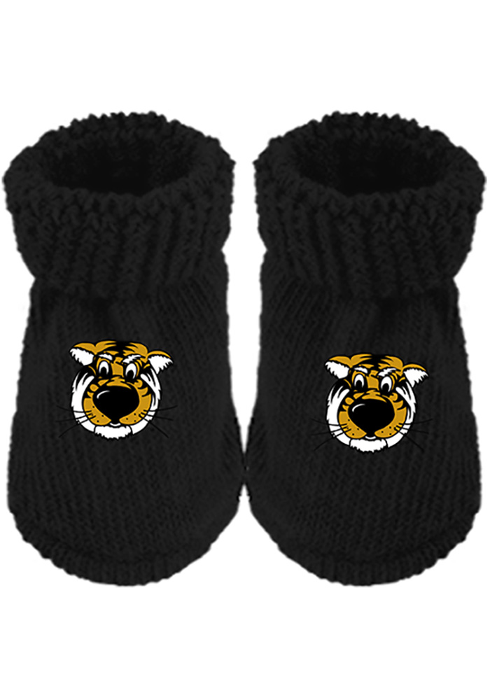 Missouri Tigers Team Color Baby Bootie Boxed Set, Black, 85 COT/13NYLN/2 SPND