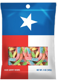 Texas Sour Gummy Worms Candy