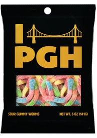 Pittsburgh Sour Gummy Worms Candy