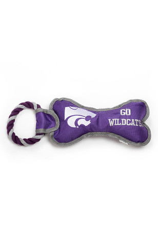 K-State Wildcats Bone With Rope Pet Toy