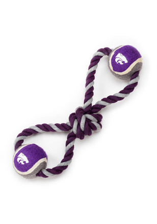 K-State Wildcats Rope Tug With Two Balls Pet Toy
