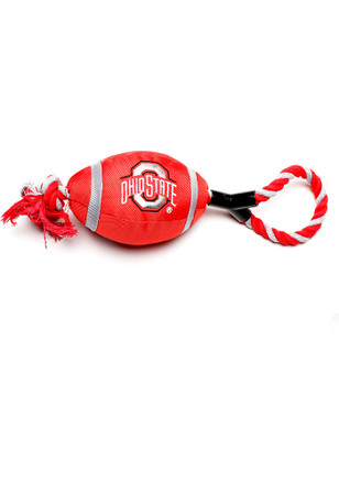 Ohio State Buckeyes Football Rope With Squeaker Pet Toy