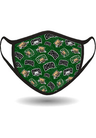 Ohio Bobcats All Over Print Fan Mask - Green
