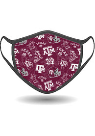 Texas A&M Aggies All Over Print Fan Mask - Red