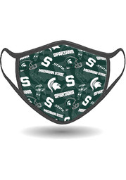 Michigan State Spartans All Over Print Fan Mask - Green