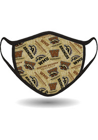 Western Michigan Broncos All Over Print Fan Mask - Brown