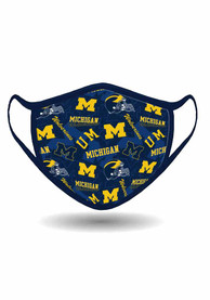Michigan Wolverines All Over Print Fan Mask - Blue