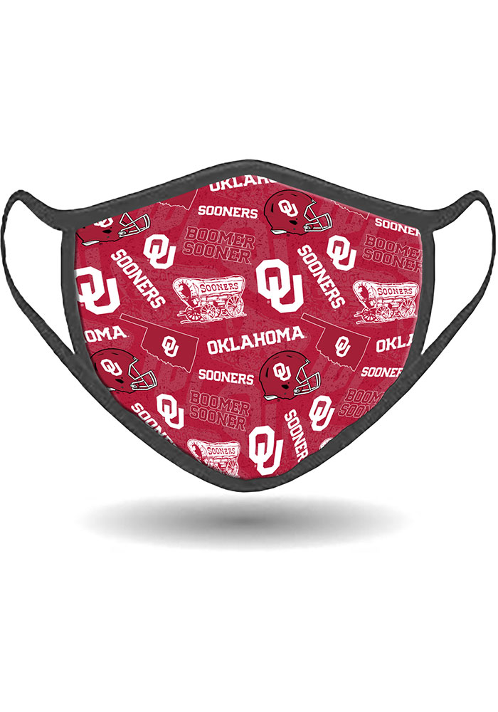 Oklahoma Sooners All Over Print Fan Mask - Red