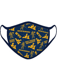 West Virginia Mountaineers All Over Print Fan Mask - Blue