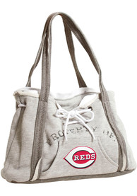 Cincinnati Reds Womens Hoodie Purse - Grey
