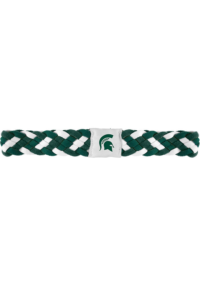 Michigan State Spartans Braided Stretch Womens Headband - Image 1