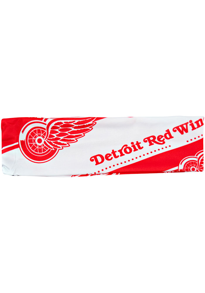 Detroit Red Wings Stretch Patterned Womens Headband - Image 1
