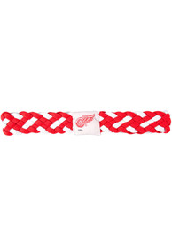 Detroit Red Wings Womens Braided Stretch Headband - Red