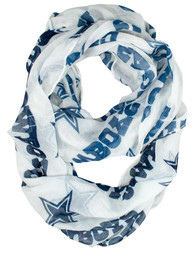 Dallas Cowboys Womens Sheer Infinity Scarf - Navy Blue