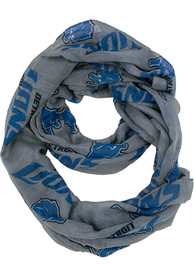 Detroit Lions Womens Sheer Infinity Scarf - Grey