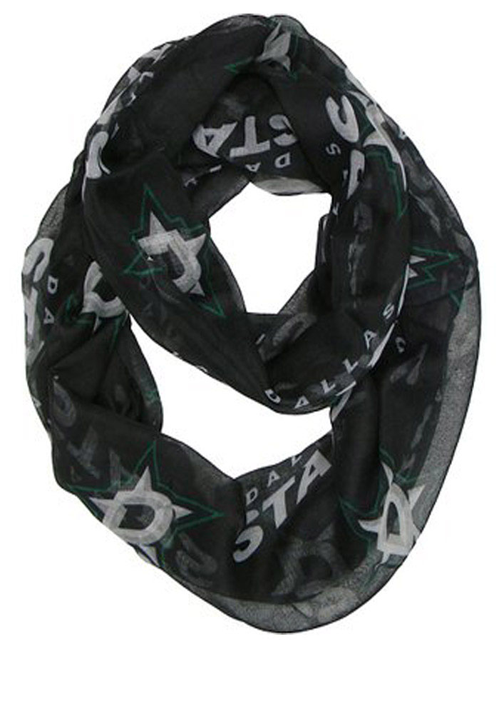 Dallas Stars Sheer Black Womens Infintiy Scarf - Image 1