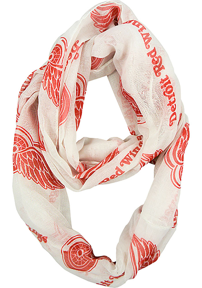 Detroit Red Wings Sheer Infinity Womens Scarf - Image 1