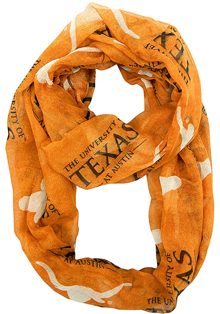 Texas Longhorns Sheer Infinity Womens Scarf - Image 1
