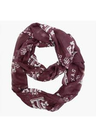 Texas A&M Aggies Womens Sheer Infinity Scarf - Maroon
