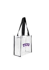 TCU Horned Frogs Stadium Approved 12 x 12 x 6 Clear Bag - White
