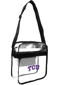 TCU Horned Frogs Crossbody Clear Bag - White