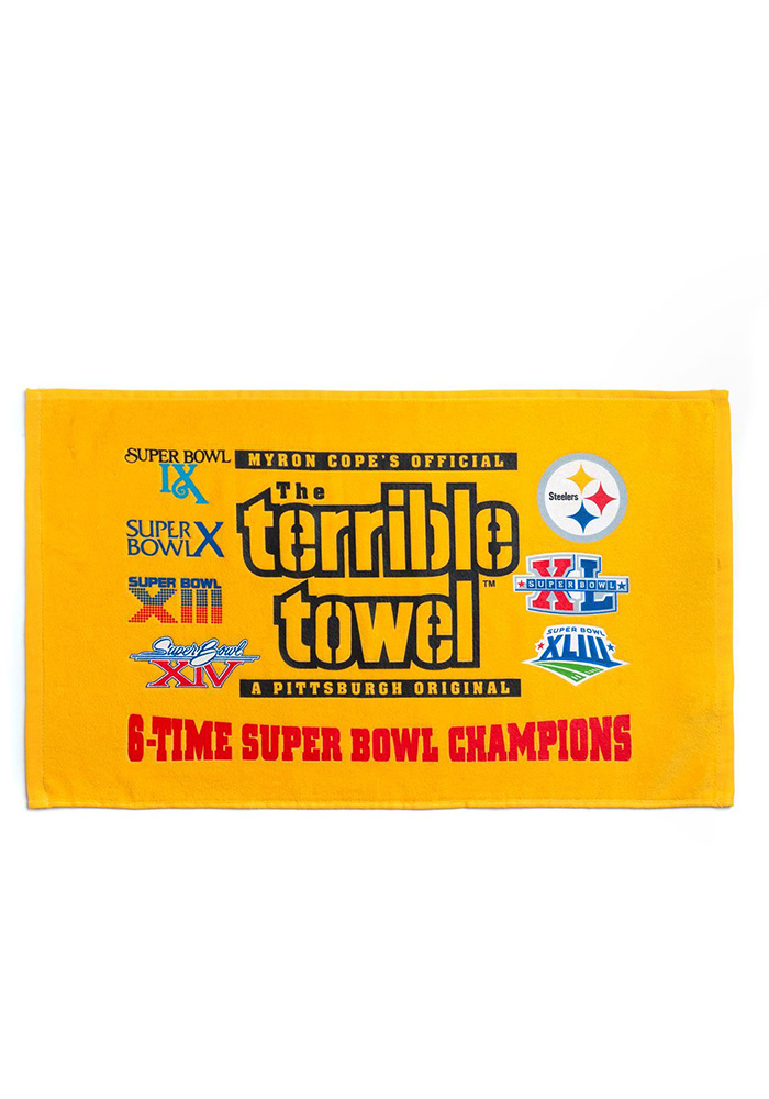 Pittsburgh Steelers 6X Champs Terrible Rally Towel - Image 1