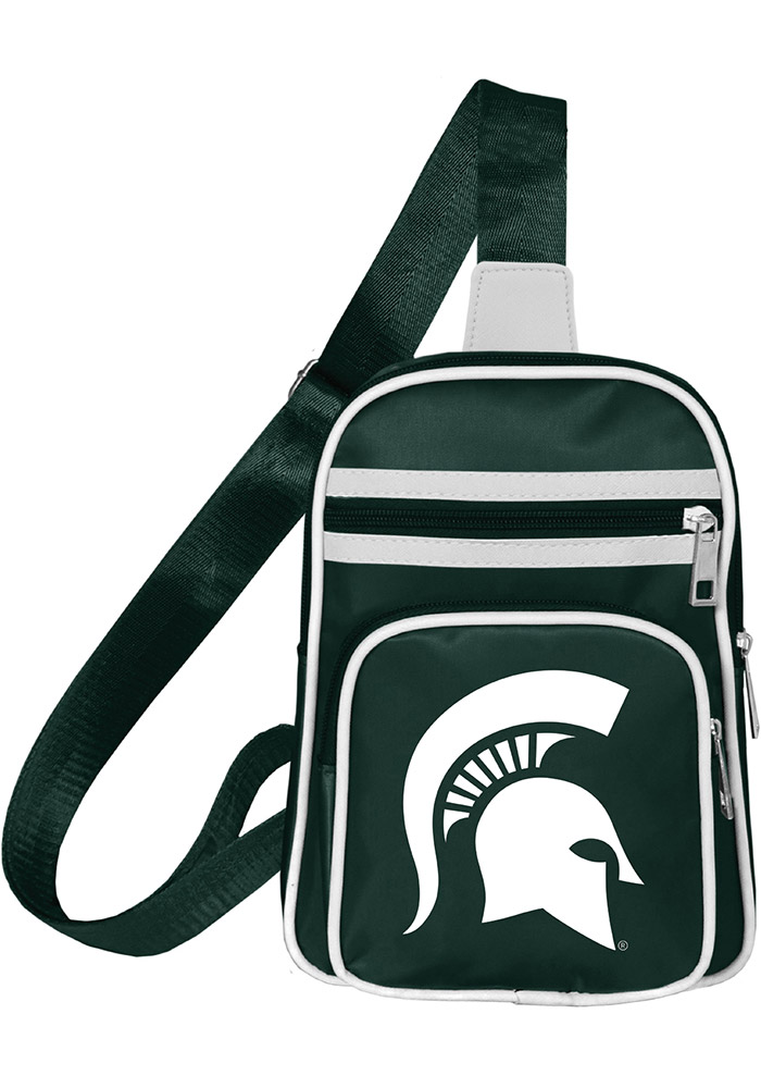 Michigan State Spartans Mini Cross Womens Purse, Green, 100% POLYESTER (10420398-NA 100650-MIST) photo