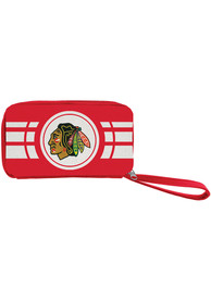 Chicago Blackhawks Womens Ripple Zip Wallets - Red