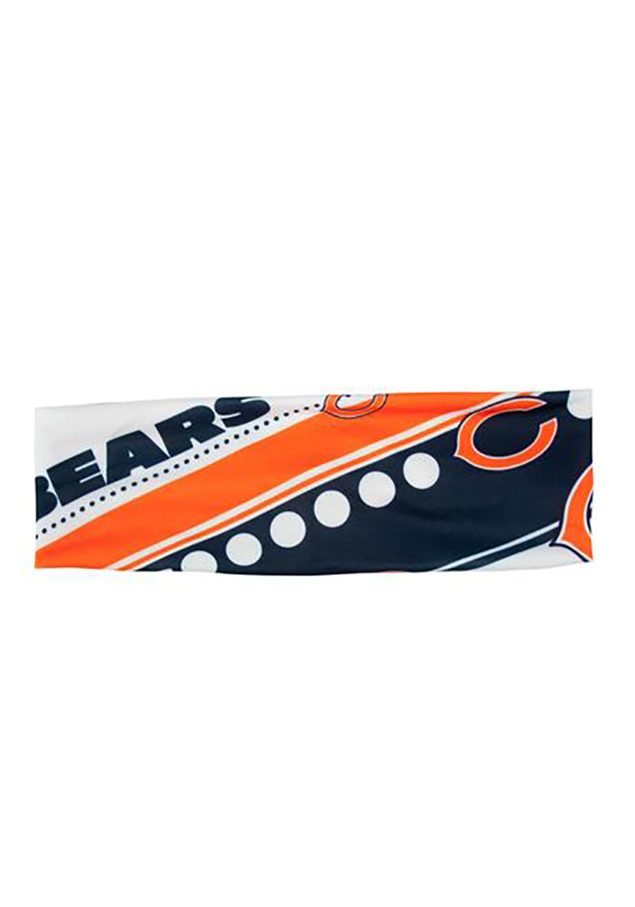 Chicago Bears Stretch Patterned Womens Headband - Image 1