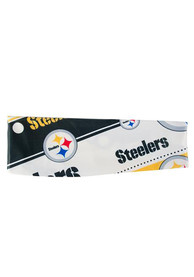 Pittsburgh Steelers Womens Stretch Patterned Headband - White