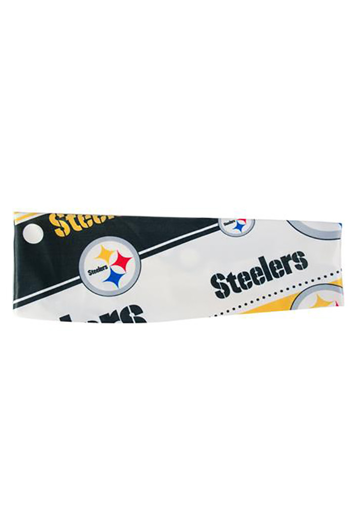 Pittsburgh Steelers Stretch Patterned Womens Headband - Image 1